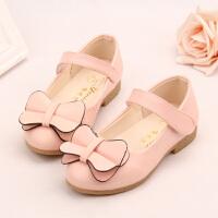 女童皮鞋夏秋季珍珠公主鞋时尚演出鞋软底儿童鞋单鞋