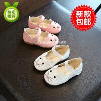 女宝宝鞋子1-2-3岁4春秋小童单鞋韩版公主皮鞋婴儿软底学步鞋防滑