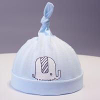新生儿帽夏季宝宝套头帽0-3-6个月婴儿帽薄款胎帽初生幼儿帽 均码