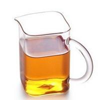 手工耐热玻璃 有把茶杯 250ml 玻璃杯耐热玻璃公道杯 分茶器 分酒器 方形茶海茶杯茶具套装