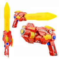 发光音乐宝宝电动变形声光枪金刚1-2-3周7岁儿童玩具枪