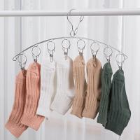 不锈钢衣架子晒衣架家用防风多夹子多功能婴儿袜子晾衣夹神器EK型 1个