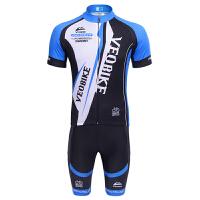 2015夏季 山地自行车 简约休闲 短袖骑行服套装