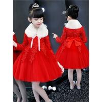 洋气蓬蓬纱裙子儿童连衣裙冬季女童秋冬公主裙小女孩加绒装