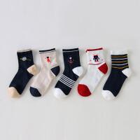 【2件3折价:38】小猪班纳童装男童袜子儿童长袜(五双装)