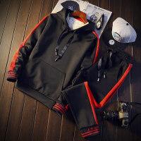 休闲套装男士衣服连帽套头卫衣男装韩版时尚潮流个性百搭学生运动外套