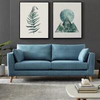 小户型北欧轻奢简约现代三人沙发客厅组合时尚单双人布艺沙发防水