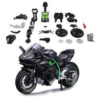 儿童仿真合金机车金属模型玩具新款1 12H2R拼装摩托车模型