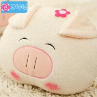 咔噜噜 情侣猪抱枕 暖手 可爱布娃娃 女生毛绒玩具 创意毛绒玩具   情人节礼物