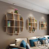 墙壁书架墙上置物架客厅墙面壁挂电视背景墙墙体创意装饰挂壁实木