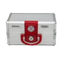 金隆兴G-B8088手提印章盒8格印章箱多功能收纳箱银色