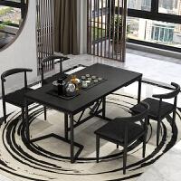 火烧石功夫茶几新中式带电磁炉全自动上水泡茶台桌椅组合客厅店铺 组装