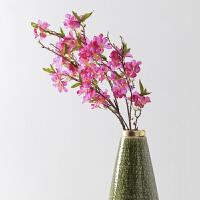 奇居良品 客厅卧室仿真花艺绢花假花装饰插花 单枝4叉苹果花