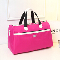 韩版手提旅行包女男尼龙旅行袋潮大容量行李包单肩斜跨包可套拉杆