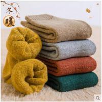 保暖冬季加绒加厚羊毛袜袜子女毛巾袜女士睡眠袜中筒袜保暖毛圈袜