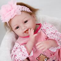 安娜公主仿真婴儿重生娃娃安抚睡眠女孩洋娃娃玩具宝宝生日礼物