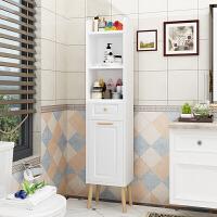 定制北欧卫生间落地储物柜浴室角落窄柜马桶边柜侧柜墙角置物架B
