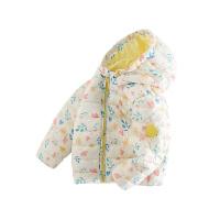 【2件3折到手�r:149】小�i班�{童�b�和�棉服女童�B帽外套冬季新款����保暖碎花棉�\上衣