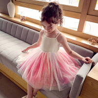 女童连衣裙春夏女孩吊带裙儿童网纱公主裙打底裙
