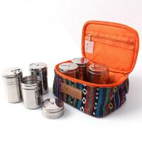 户外野餐烧烤调料套装民族风野餐包调料盒套装户外装备 野餐用品