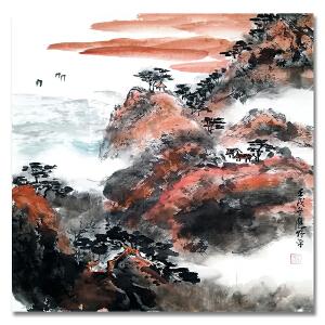 中国美术家协会会员 应野平《山水3》LL292