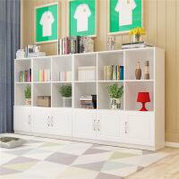 图书馆书架书柜柜子自由组合储物柜带门书柜书架简约现代置物柜客厅书柜书橱B