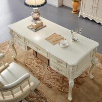 具欧式书桌实木学习桌白色电脑桌田园办公桌写字台书台 否
