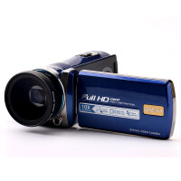 包邮 莱彩 HD-A90 10倍 光学变焦 高清 数码 摄像机 防抖 1080P 家用 DV相机