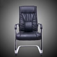 舒适电脑椅书桌高靠背弓形脚老板椅家用高背办公椅子座椅 黑色 钢制脚 固定扶手