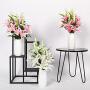 仿真百合花绢花家居装饰客厅摆设花艺餐桌塑料花套装把束盆栽插花