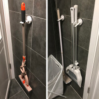 收纳浴室吸盘壁挂拖把夹扫把挂架拖把挂钩免打孔强力无痕粘钩拖布