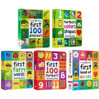 First 100 Words Colors Shapes Trucks 英文原版 启蒙认知100词系列纸板书4册全套装 罗杰普利迪 交通工具 儿童启蒙认知早教绘本