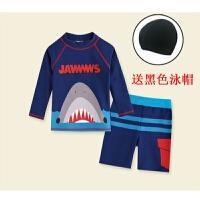 儿童泳衣男童泳裤分体长袖防晒速干中大童男孩小宝宝可爱泳装