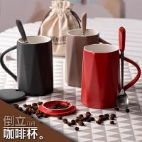 创意女学生陶瓷马克杯韩版咖啡杯带盖勺潮流家用喝水杯子情侣s3g