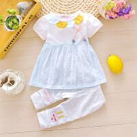 女童装夏装女宝宝婴儿衣服装女孩幼儿童3岁夏季公主二件套装潮