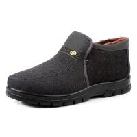 老北京布鞋男冬季棉鞋新款加绒加厚保暖防滑耐磨中老年爸爸棉靴