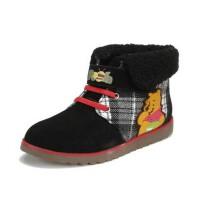 鞋柜SHOEBOX冬款男童翻边魔术贴靴子