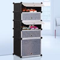 索尔诺简易鞋柜防尘鞋架组装组合多层树脂简约现代大容量塑料收纳柜靴子柜