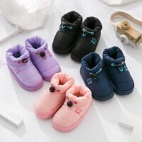 儿童棉拖鞋冬季可爱男童女童包跟厚底冬天保暖防水羽绒宝宝中小童
