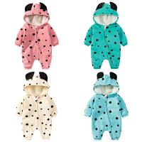 婴儿连体衣服宝宝新生儿0长袖个月季7满月5春装卫衣冬季
