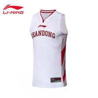 李宁篮球比赛服男新款山东队CBA篮球系列背心篮球服运动服AAYN805