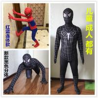 儿童节cosplay儿童黑色蜘蛛侠套装连体紧身衣服装表演服