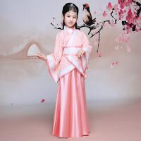 儿童汉服古装演出服女童国学服复古改良曲裾表演服摄影写真服装