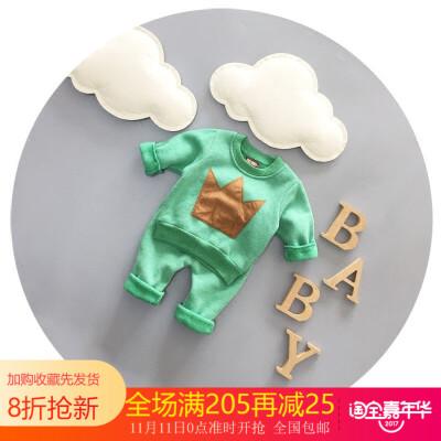 新生儿衣服冬季纯棉男童秋冬装套装2016新款1-2-3岁男宝宝两件套 发货周期:一般在付款后2-90天左右发货,具体发货时间请以与客服协商的时间为准