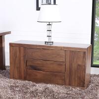 北美黑胡桃木活动柜2门3斗柜实木收纳柜书房卧室家具