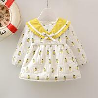 婴幼儿1-2-3岁半长袖女童秋冬女孩公主连衣裙韩版女宝宝加绒加厚