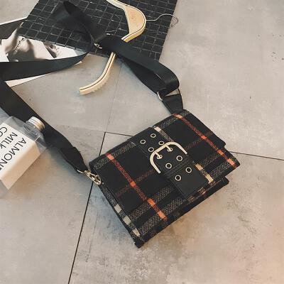 宽肩格子小包妈咪挎包帆布旅行钱包运动多功能女式斜挎包背包休闲包袋手提小方帆布单肩