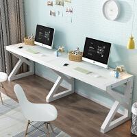 经济型简约双人台式电脑桌家用一体书桌写字台学生学习桌游戏桌子 双人280*60宽 颜色备注