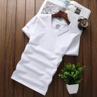 男士莫代尔T恤短袖v领 男款夏季打底衫加肥加大T恤 无痕宽松大码