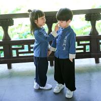 汉服童装儿童唐装男童套装女童春秋中国风宝宝夏季衣服复古民族风